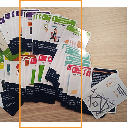les cartes qui présente l'agence marque employeur