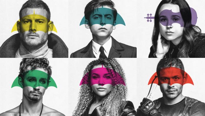 marque employeur en série personnages de umbrella academy